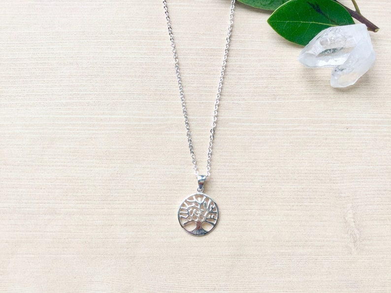 Sterling SIlver Tree of Life Pendant Necklace. Charm Necklace image 0