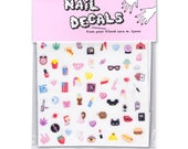 CUTE & SLEAZY nail decals - COLOR