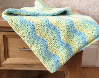 Crochet Baby Blanket, Modern Chevron Stitch, Light Weight, Baby Blanket, Baby Afghan,  Crib Blanket, Colourful Blanket, Stroller Blanket