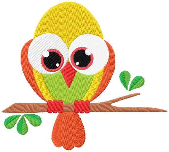 Big Eyed Bird Machine Embroidery Patterns Designs 4x4 And Etsy
