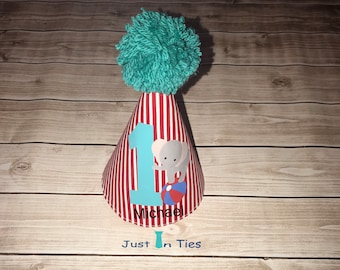 Elephant Circus Carnival First Birthday Party Hat