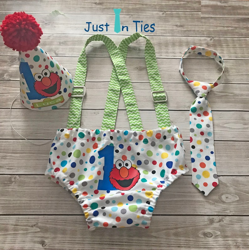 Outstanding Elmo Sesame Street Baby Boy First Birthday Cake Smash Outfit Etsy Funny Birthday Cards Online Sheoxdamsfinfo