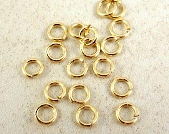 4mm Gold Filled Jump Rings - (4mm/184AF) Open Jump Rings - 20 gauge - 10 pcs.
