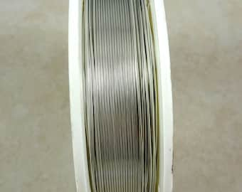 Zebra Wire, SILVER 24g (1471) - Coated Copper Wire, Silver Color - 24 Gauge Silver Wire for Wire Wrapping - 20 yard spool