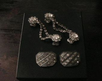 Rhinestone Jewelry, Retro, Shoe Clip, Scarf Tie, Shabby Chic, Mid Century, Vintage, Accessories, Antique Discoveries