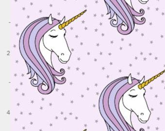 Baby Bedding Crib Bedding - Starry Unicorn Purple Lavender - Baby Blanket, Crib Sheet, Changing Pad Cover, Boppy Cover, Crib Skirt