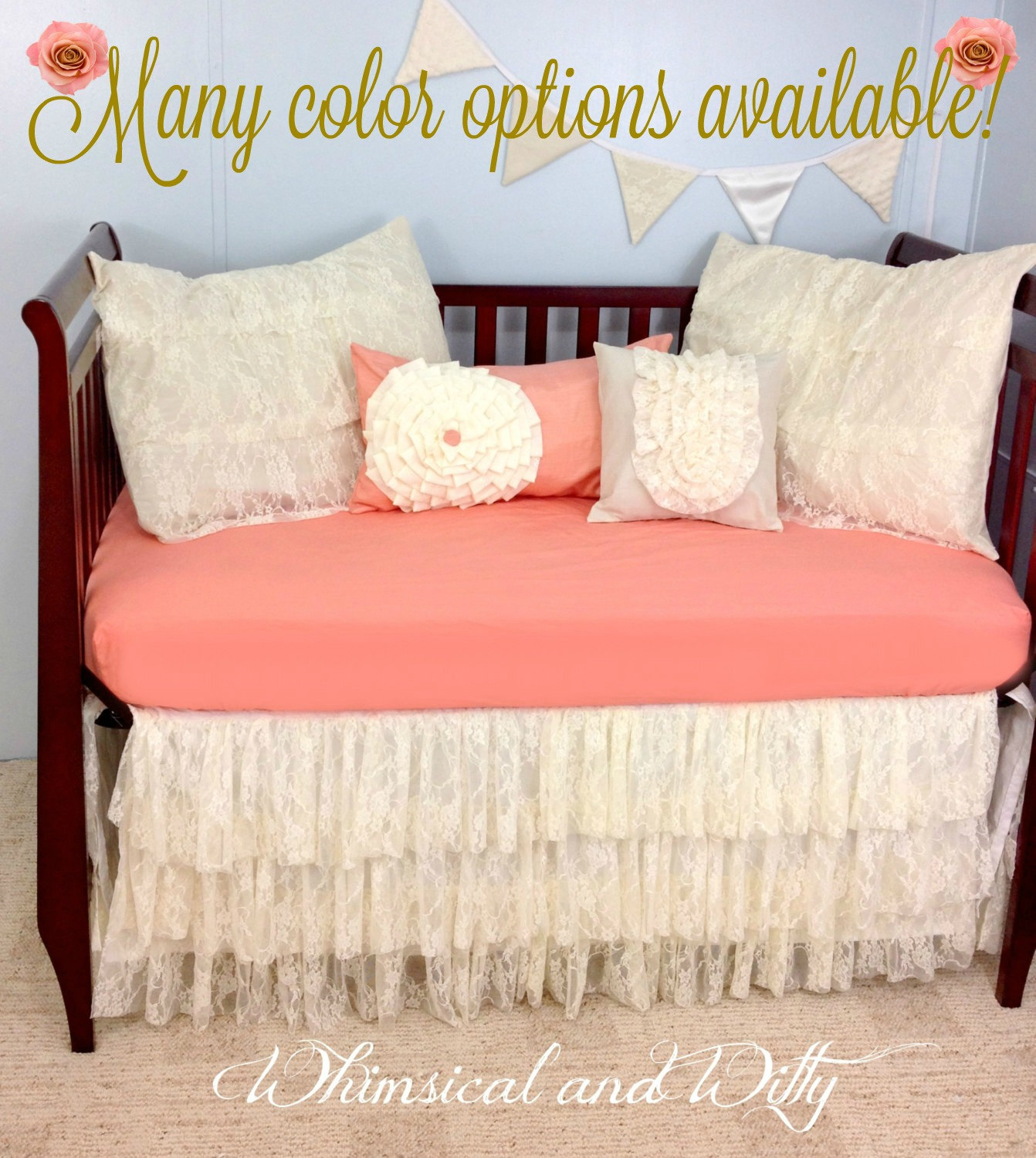 Baby Bedding Crib Bedding Shabby Chic Vintage Lace Baby Etsy