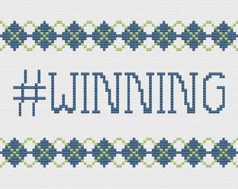 Cross Stitch Pattern - winning
