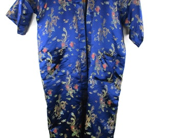 Vintage Silk Asian Robe Size XL 83b8d711b