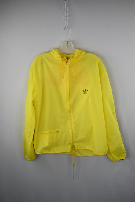 Adidas Yellow Nylon Ripstop Track Suit and Pants s