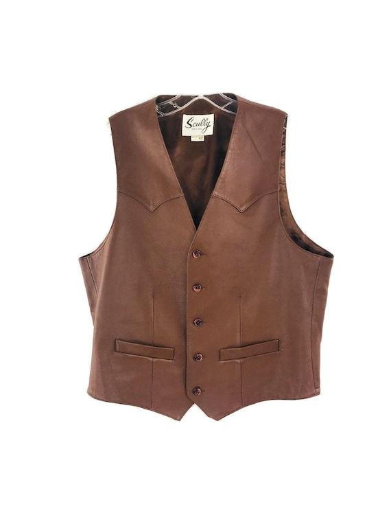 Scully Vintage Mens leather vest sz:42