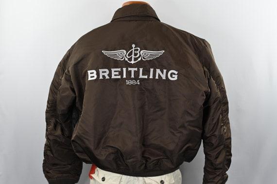 Brown Breitling Leather Flight Jacket Size: L - image 6