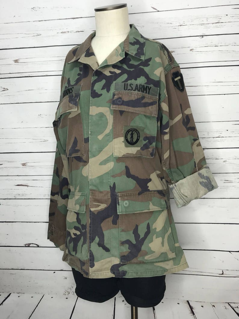 1373fcc8d99d0 Camo jacket vintage military issue army unisex coat | Etsy