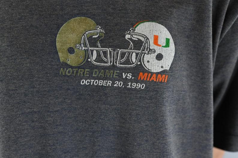Notre Dame Vs Miami 1990 Graphic T-Shirt Size XL