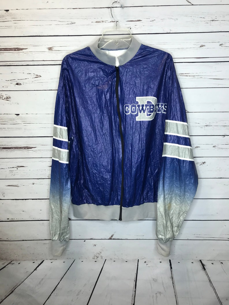 Vintage Dallas Cowboys wind breaker jacket SZ  L  26fbcf9c3