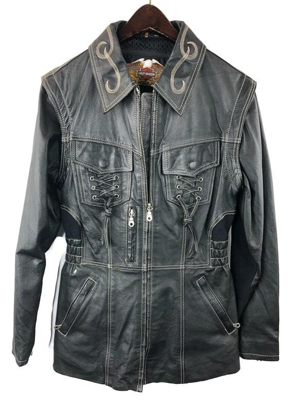 online store new style on wholesale Ladies Harley Davidson Leather Jacket Sz S | Etsy