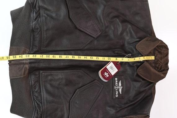 Brown Breitling Leather Flight Jacket Size: L - image 8