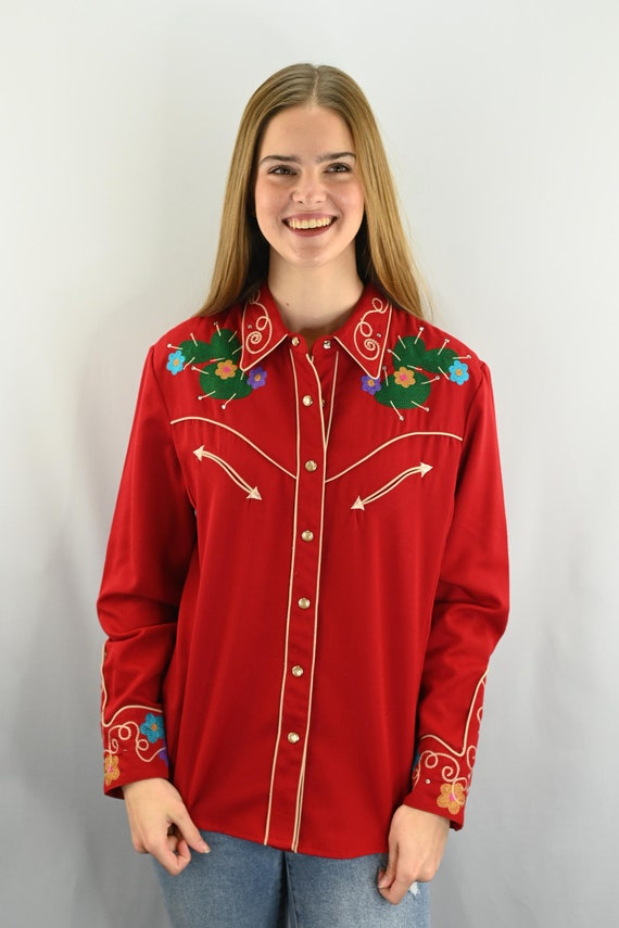 Vintage Scully Women's Embroidered Floral Western