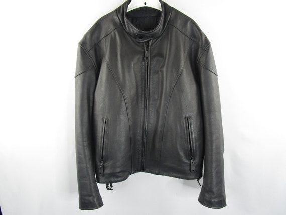 Vintage River Road Leather Jacket Size 46