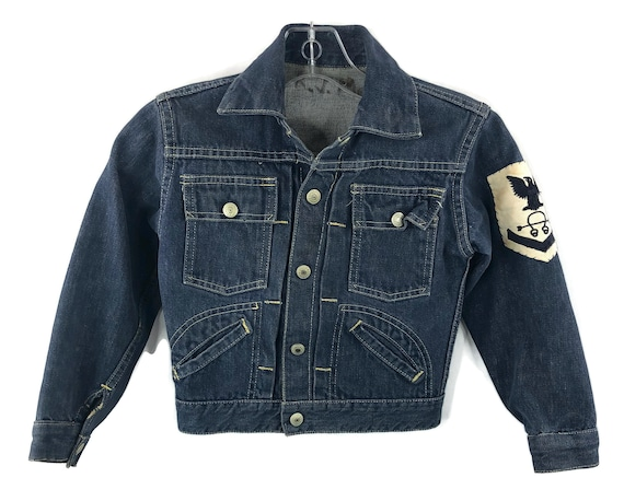 Vintage Kids Denim  JCP Foremost Button Jacket Siz