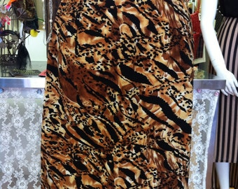 Vintage handmade leopard print skirt