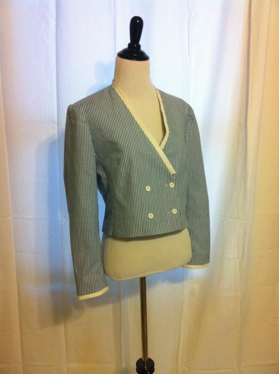 Vintage Sailor striped cropped jacket