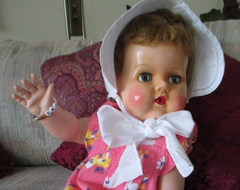 """VTG American Character 18"""" Tiny Tears Doll-""""Adorable Like Mommy"""""""