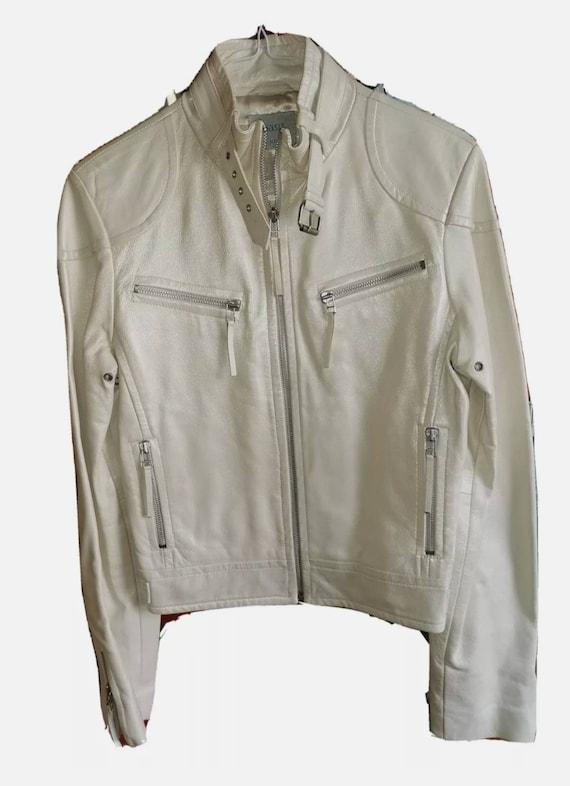 Vintage Oasis Pearl Leather Jacket