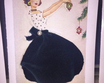 Handmade Retro Greeting Card
