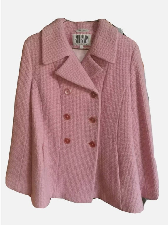 Vintage Bill Blass Signature Pink Wool Coat