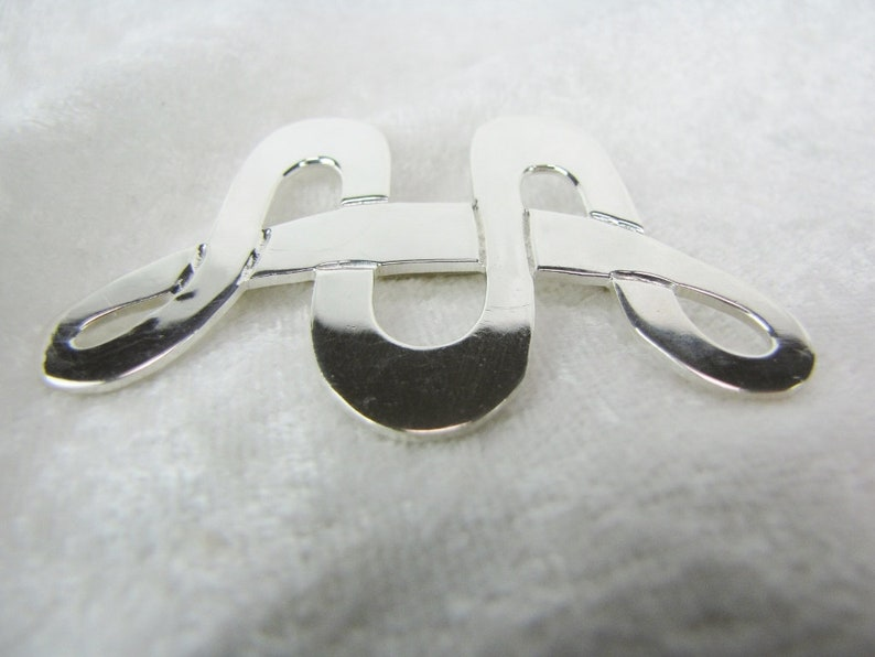 Unique Large Geometric Artisan Statement Brooch Vintage Sterling Silver Modernist Collar Infinity Brooch Pin Fine Mexican Jewelry
