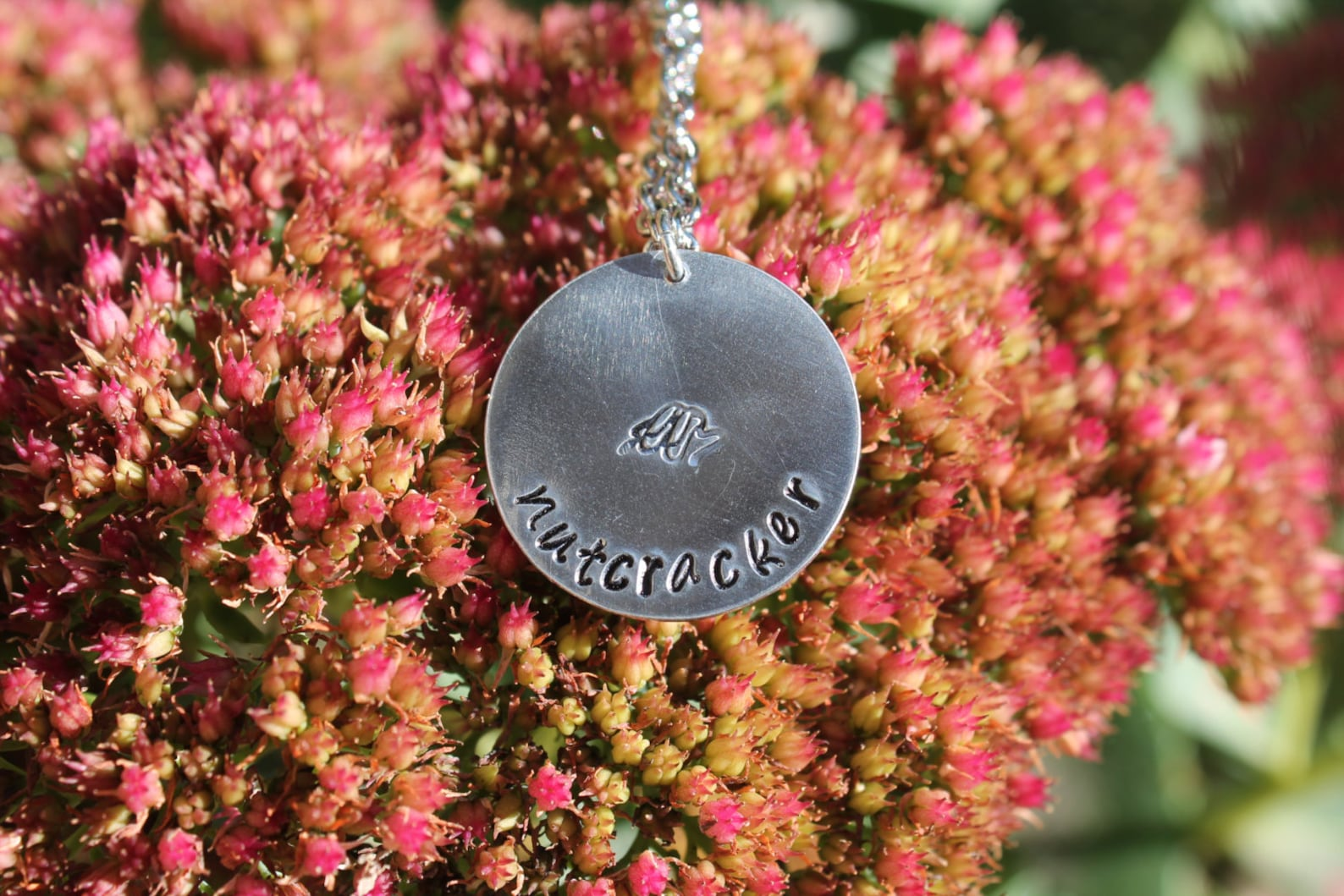 handstamped personalized nutcracker necklace, name necklace, recital necklace, ballet, pointe, dance jewelry