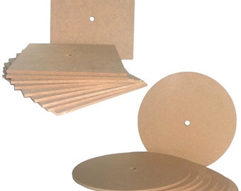 Blank MDF Round or Square Clock Face - Single