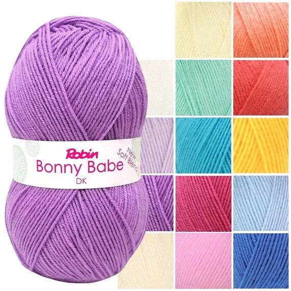 ROBIN BONNY BABE 4 PLY KNITTING YARN//WOOL  NEW SOFT BLEND 5 X 100 GRAM BALLS