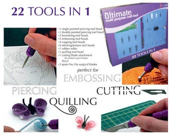 Ultimate Multi Purpose Craft Tool Kit Scrapbooking Parchment Card Making Emboss