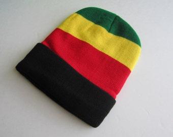 8b371ce3622 Rasta Beanie Unisex - Rastafari Beanie - Jamaican Style Reggae Roots Beanie