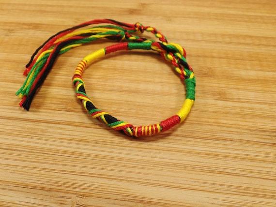 Bracelet fil tresse rasta jamaican bresilien 18