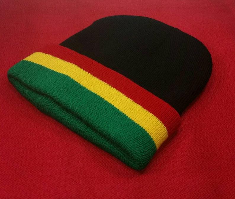 13fae8a7ce3 Rasta Beanie Unisex Rastafari Beanie Jamaican Style Reggae