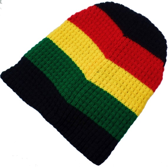 Rasta Beanie Unisex Rastafari Beanie Jamaican Style Reggae  36981ba6b7b
