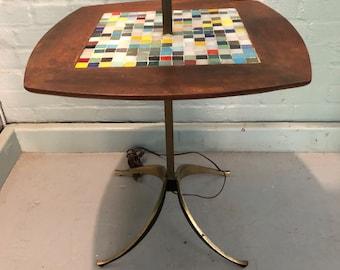 Fabulous Tony Paul Mid Century Modern Tile Floor Lamp