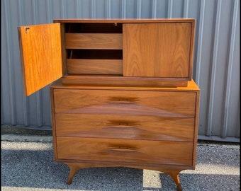 Albert Parvin Mid Century Modern Highboy Dresser
