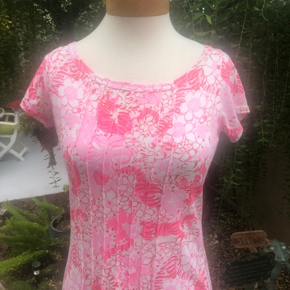 Vintage 1970's Liza by Lilly Pulitzer Pink Tiger K