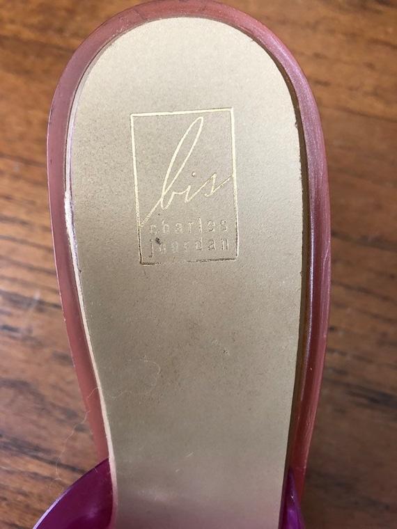 Vintage 1990's bis Charles Jourdan Pink Plastic F… - image 7