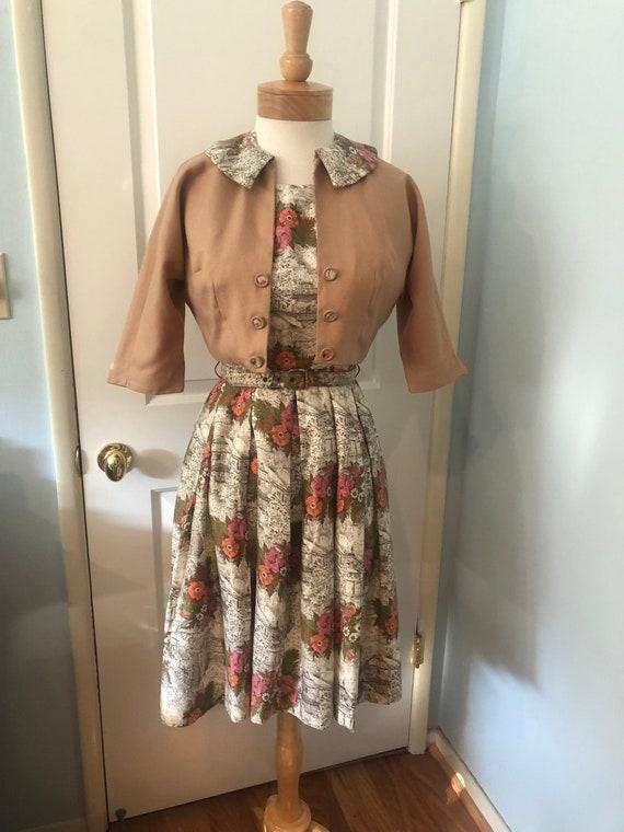 Vintage 1950's Mode O' Day Ladies Three Piece Dres