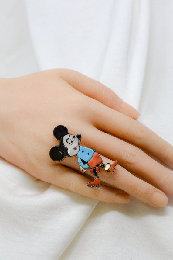 Mickey Ring, Sterling Silver Carol Kee Mouse Carto