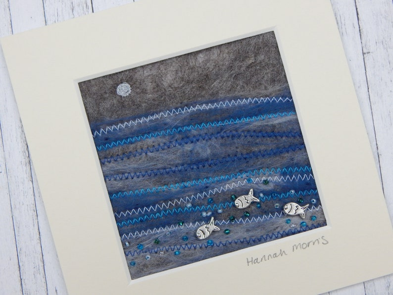 6x6 Nautical Embroidery Art