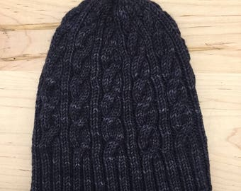 Favorite Cabled Beanie // merino wool, cashmere, nylon // adult one size