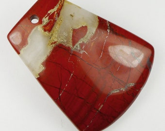 Red River Jasper Pendant Bead -  48x40x7mm
