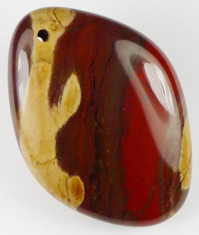 42x30x10mm Ribbon Puffy Jasper Pendant Bead