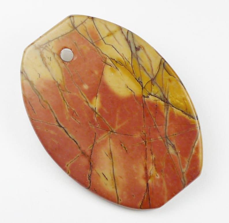 Picasso Jasper Pendant Bead 48x35x6mm
